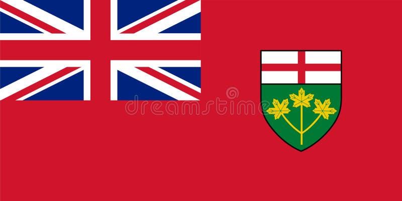 Vektorflagga av Ontario, landskap av Kanada toronto vektor illustrationer