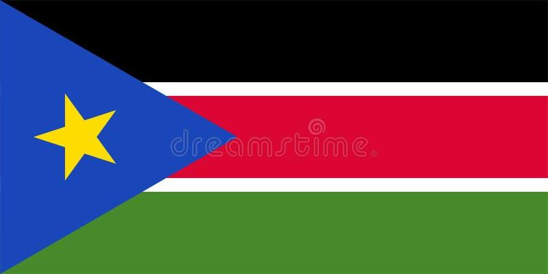 Vektorflagga av södra Sudan Proportions1:2 Södra sudanesisk nationsflagga Republik av s?dra Sudan vektor illustrationer