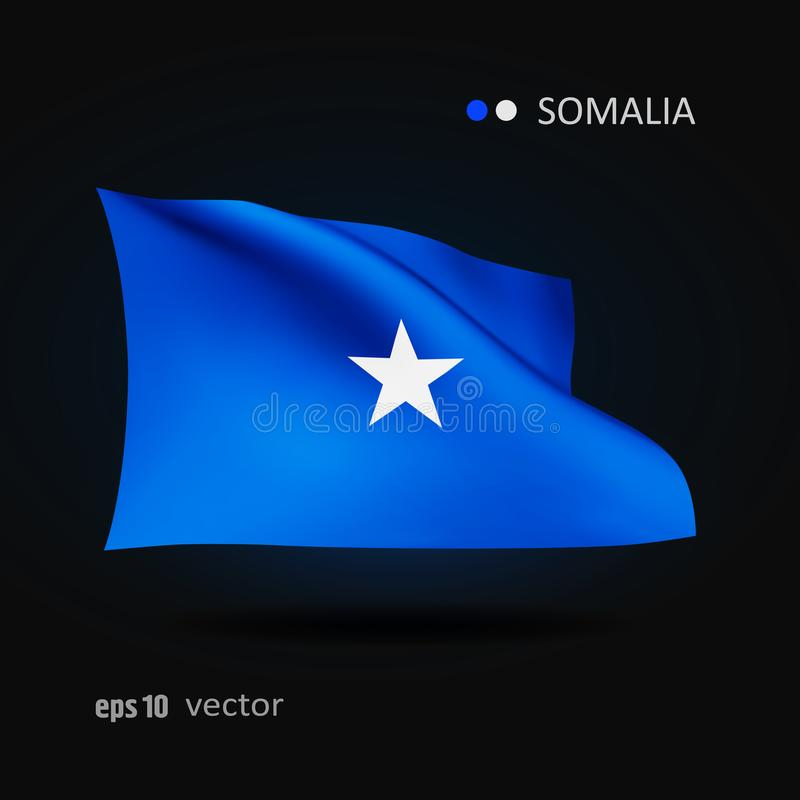 Vektorflagga av Somalia stock illustrationer