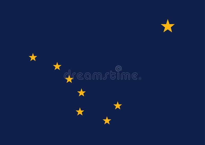 Vektorflagge von Alaska-Staat Staaten von Amerika stock abbildung