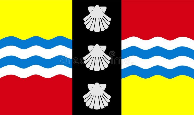 Vektorflagge von Bedfordshire-Grafschaft, England Vereinigtes Königreich lizenzfreie abbildung