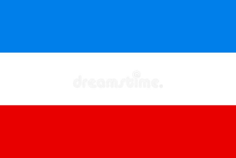 Vektorflagge von Mannheim-Stadt, Baden-Wü rttemberg, Deutschland Vektorflaggenillustration lizenzfreie abbildung