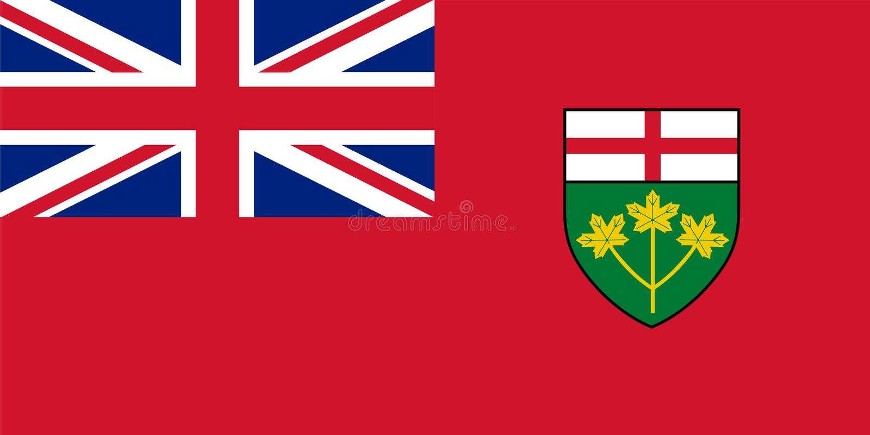 Vektorflagge von Ontario, Provinz von Kanada toronto vektor abbildung