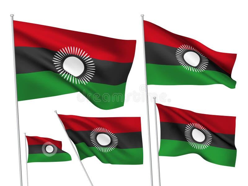 Vektorflaggen von Malawi stock abbildung