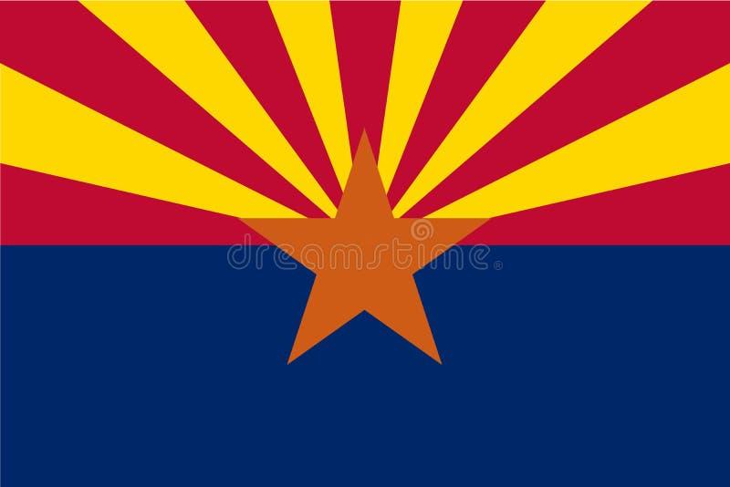 Vektorflaggenillustration von Arizona, die Vereinigten Staaten von Amerika stock abbildung