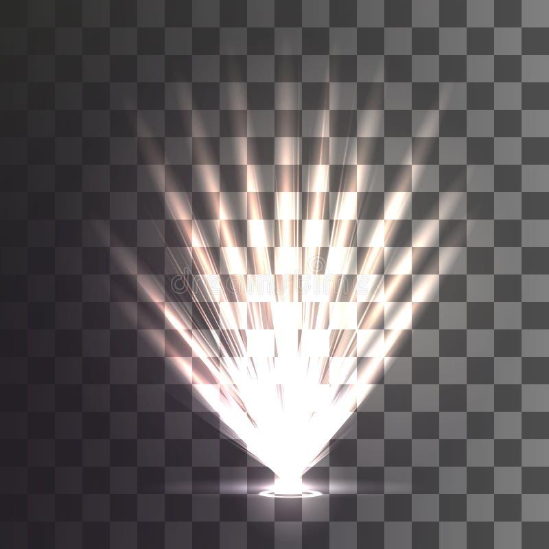 Vektorflodljus vektor illustrationer