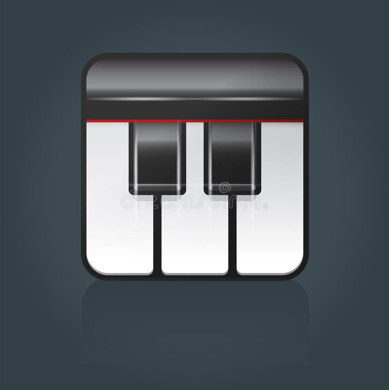 Vektorflygelsymbol för musikprogramvara royaltyfri bild