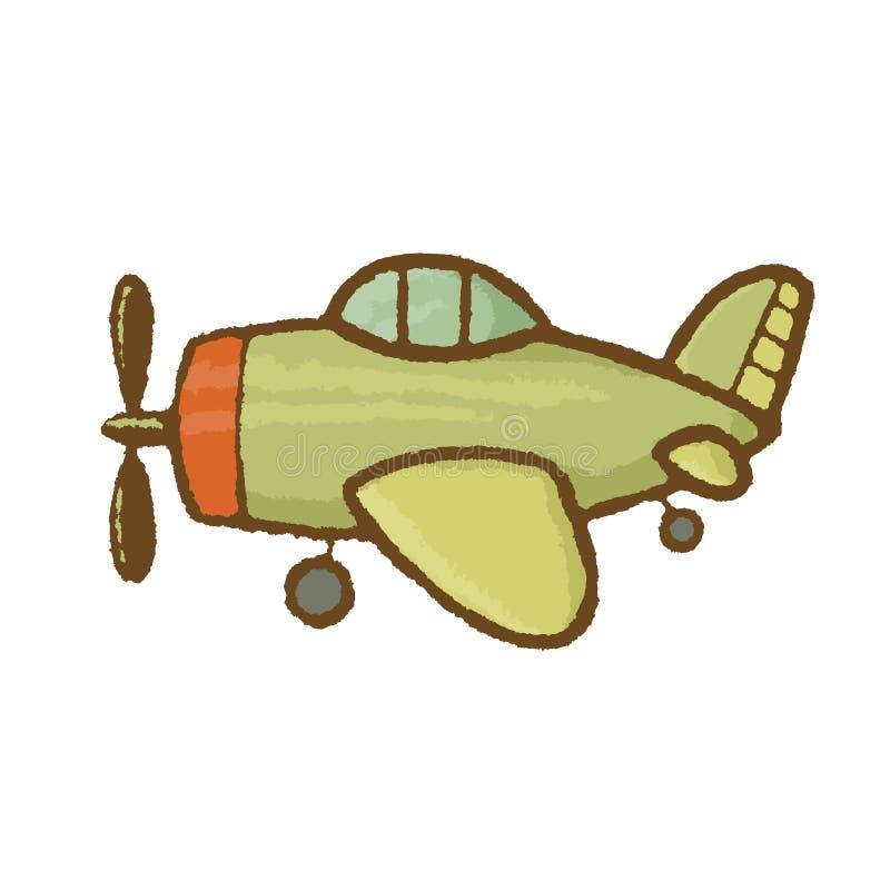 Vektorflygplanillustration royaltyfri illustrationer