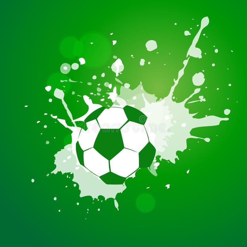 Vektorfotbolldesign stock illustrationer