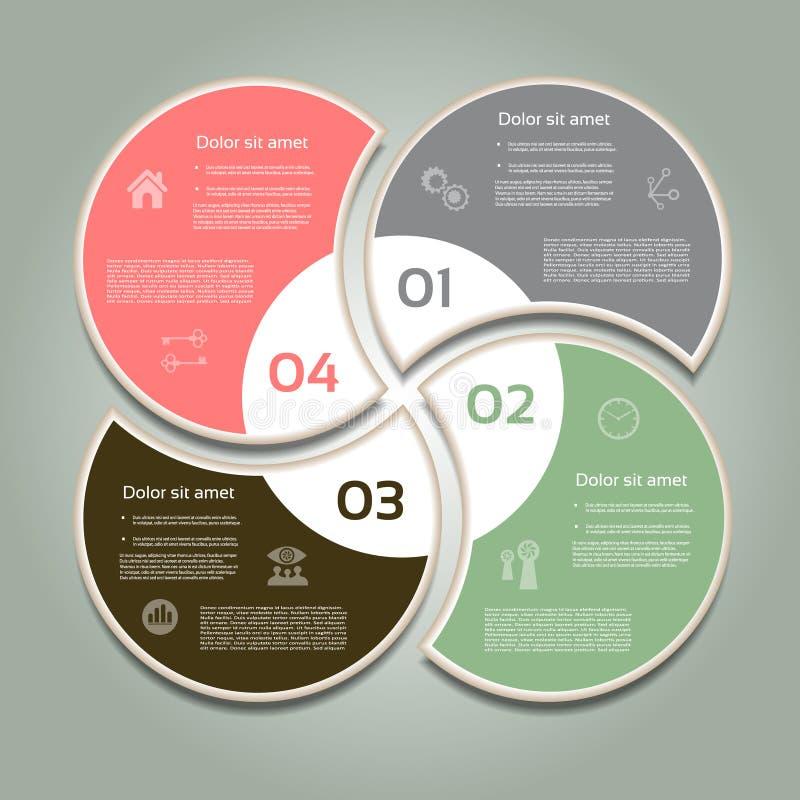 Vektorframstegbakgrund/produktval eller version royaltyfri illustrationer