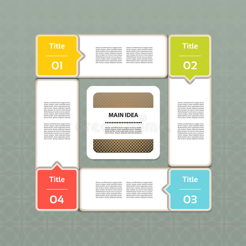 Vektorframstegbakgrund. Produktval eller version vektor illustrationer
