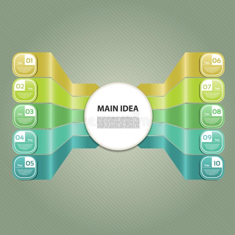 Vektorframstegbakgrund. Produktval eller version royaltyfri illustrationer