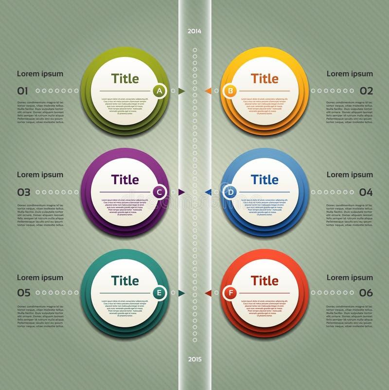 Vektorframstegbakgrund/produktval eller version stock illustrationer