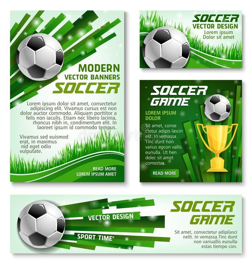 Vektorfußballcup-Fußballteam-Fahnenposter stock abbildung