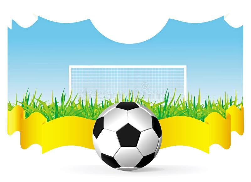 Vektorfußballhintergrund lizenzfreie abbildung