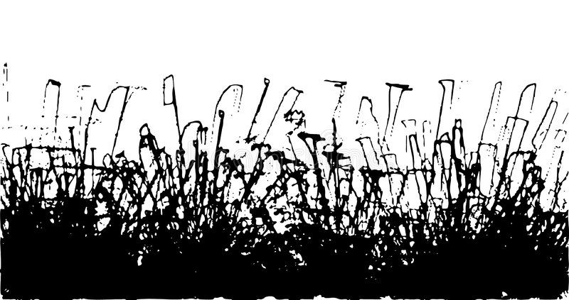 Vektorfunken eines schwarzen Lackes lizenzfreie abbildung