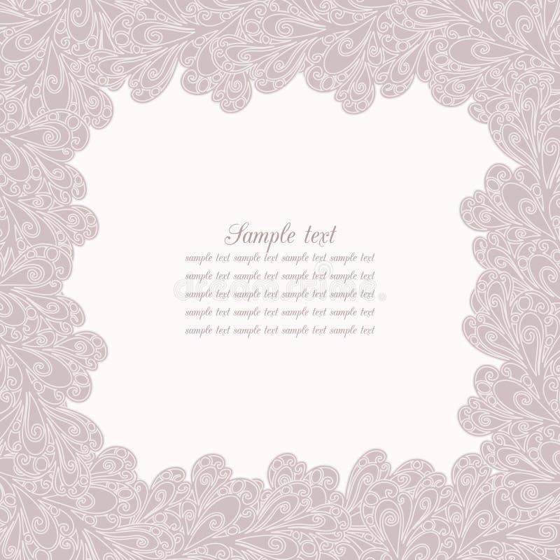 Vektorgåvakort med curles royaltyfri illustrationer