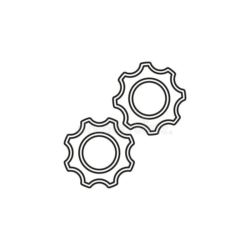 Vektorg?nge - Zahnikone - Einstellungssymbol lizenzfreie abbildung