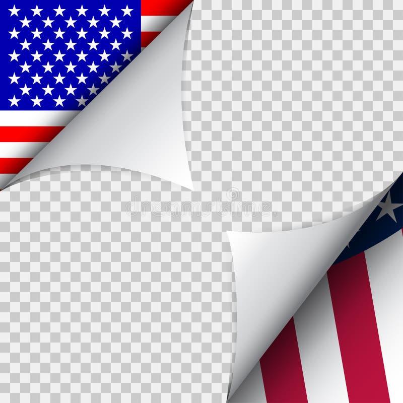 Vektorgarnering för fjärdedel av Juli USA självständighetsdagendekor stock illustrationer