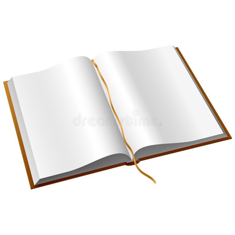 Vektorgeöffnetes Buch