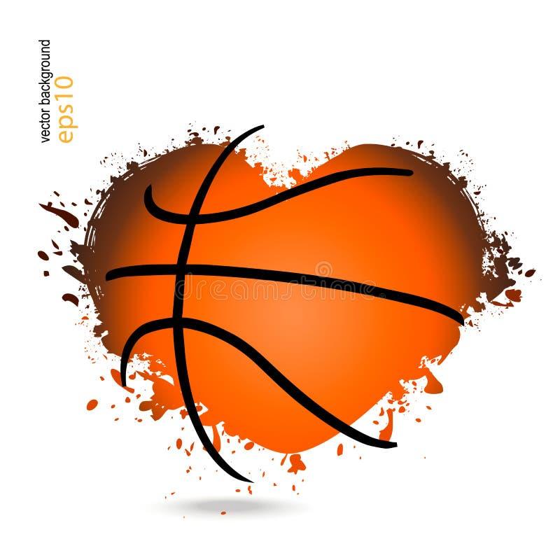 Vektorgegenstand in Form eines Herzens für Basketball vektor abbildung