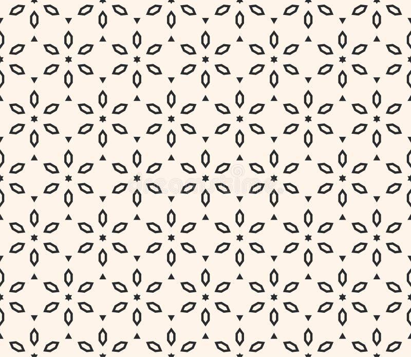 Vektorgeometrisches Blumenmuster Dekorative nahtlose Beschaffenheit mit Blumen stock abbildung