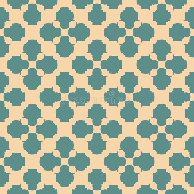 Vektorgeometrisches nahtloses Muster Blumenverzierung der Retro- Weinlesezusammenfassung vektor abbildung