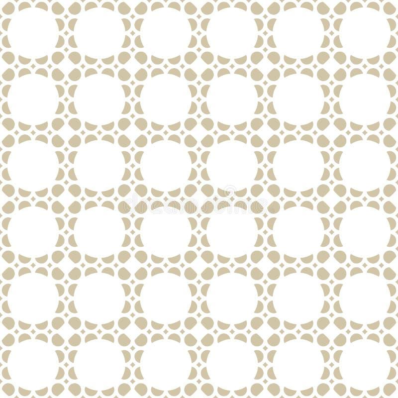 Vektorgeometrisches nahtloses Muster Empfindliche goldene Mosaikbeschaffenheit, Masche, Gitter vektor abbildung
