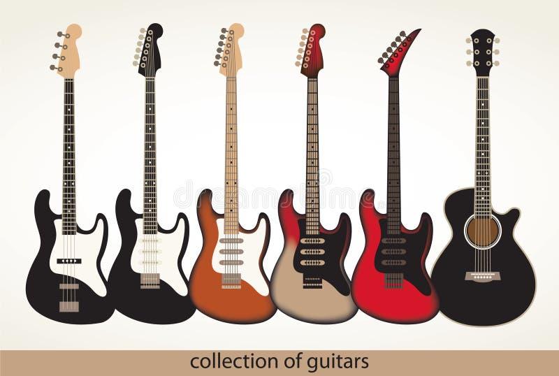 Vektorgitarren stock abbildung