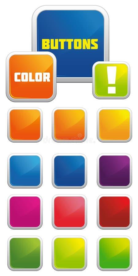 Vektorglatte Tasten lizenzfreies stockbild