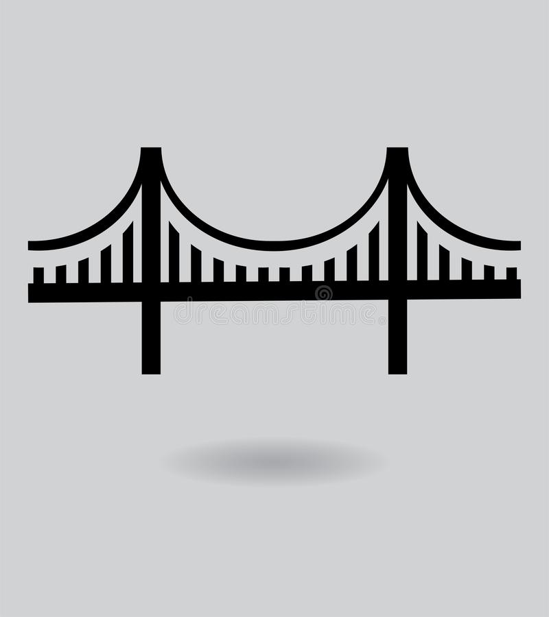VektorGolden gate bridge symbol vektor illustrationer