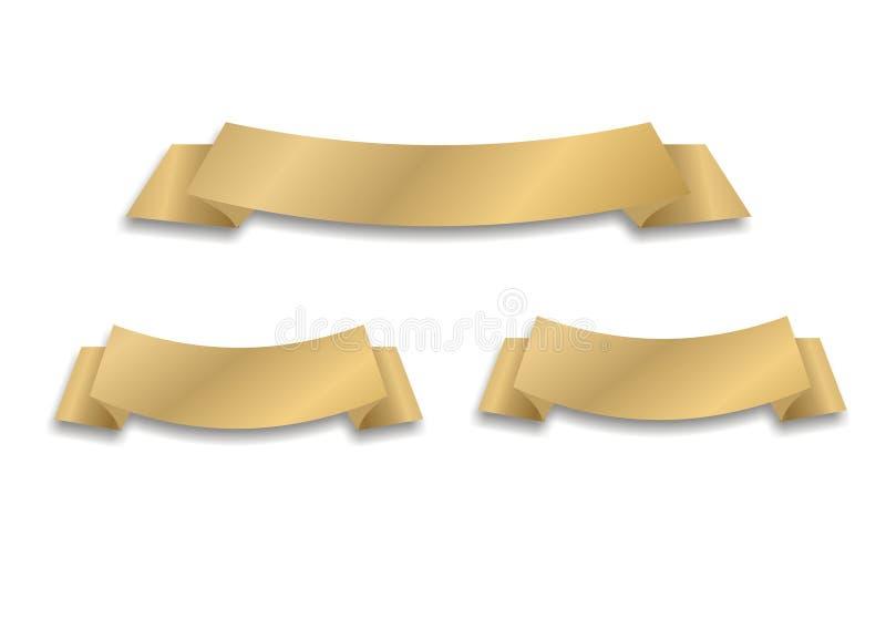 Vektorgoldenes Farbband vektor abbildung