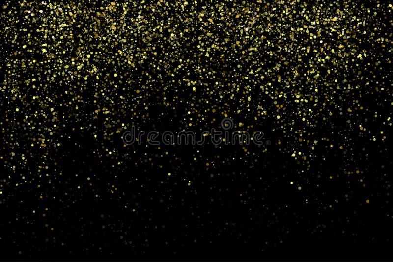 Vektorgoldfunkelnder Schein stardust Hintergrund vektor abbildung