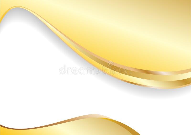 Vektorgoldhintergrund lizenzfreie abbildung