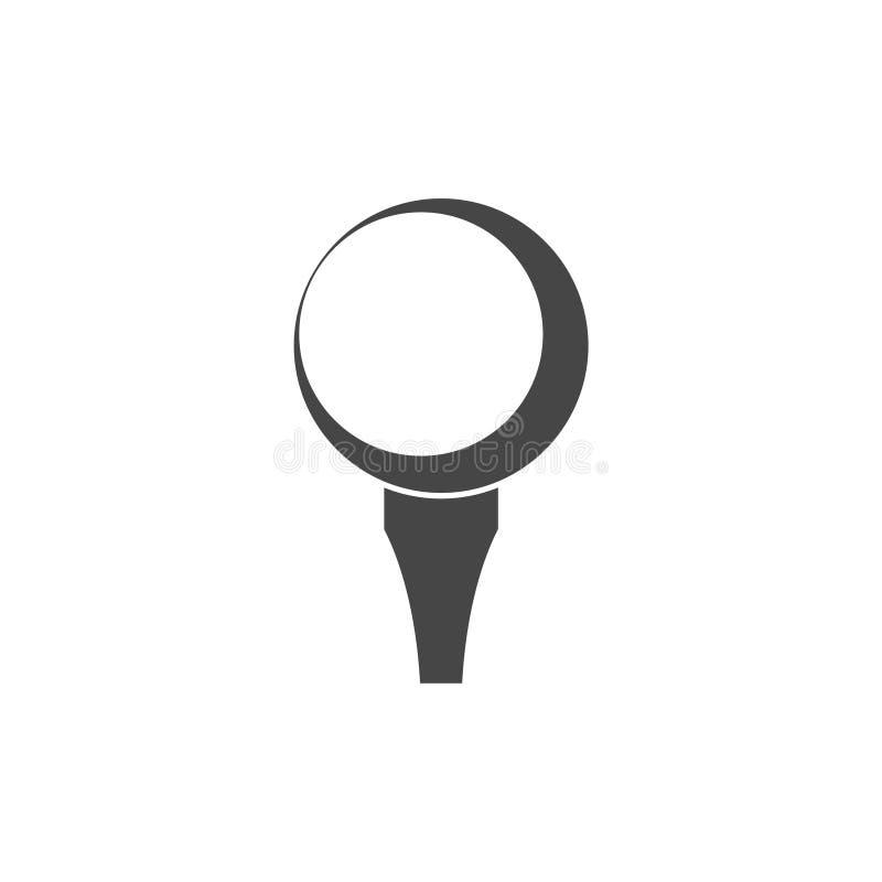 Vektorgolfball, Vektor-Golfball auf T-Stück stock abbildung