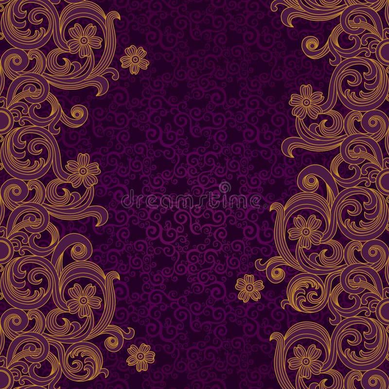 Vektorgräns i viktoriansk stil Beståndsdel för design royaltyfri illustrationer