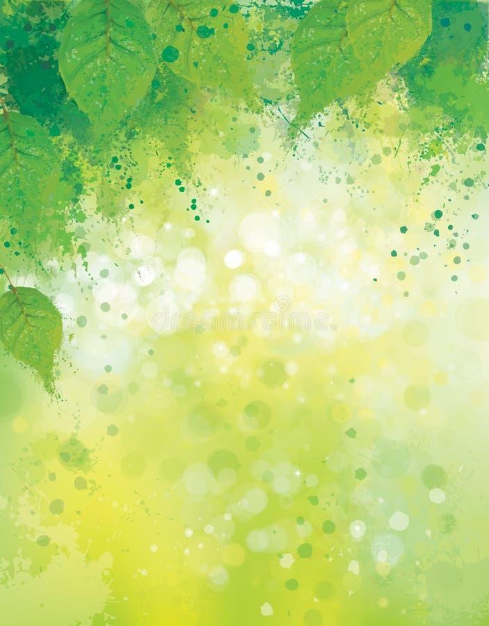 Vektorgräsplan lämnar bakgrund vektor illustrationer