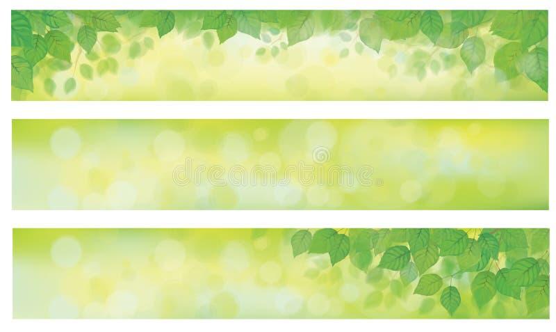 Vektorgräsplan lämnar baner vektor illustrationer