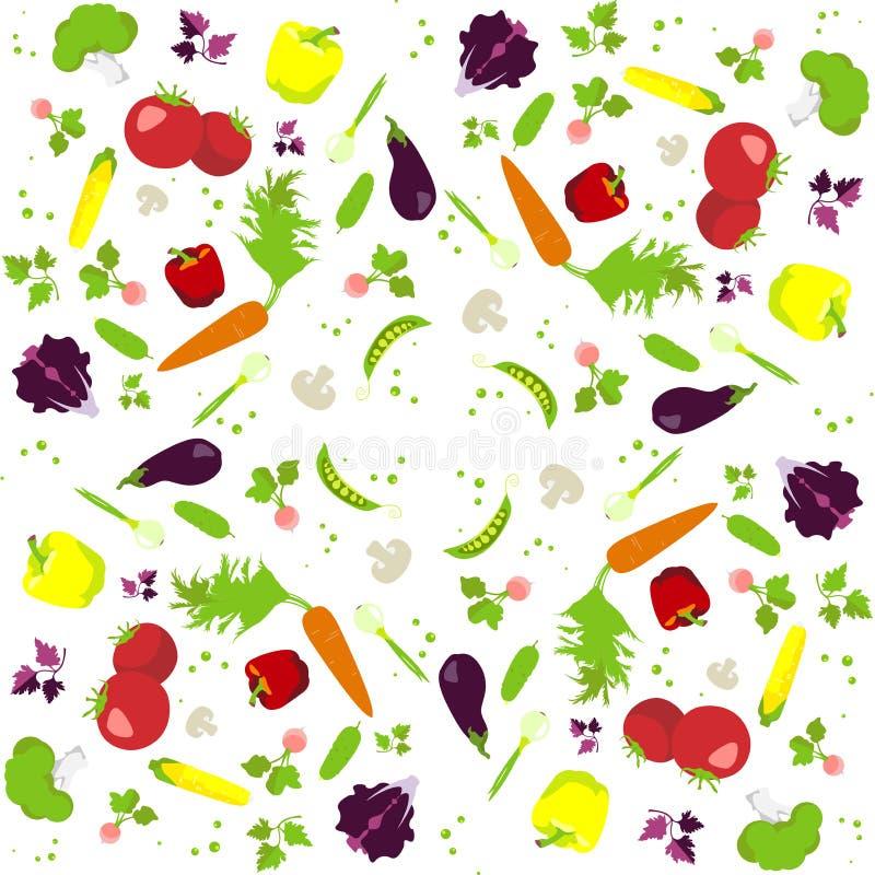 Vektorgrönsakmodell vektor illustrationer