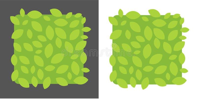 Vektorgrün-Blattrahmen, Frühlingshintergrund Fahne mit Kopienraum vektor abbildung