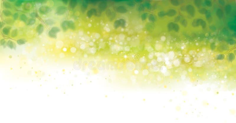 Vektorgrün lässt Hintergründe lizenzfreie abbildung