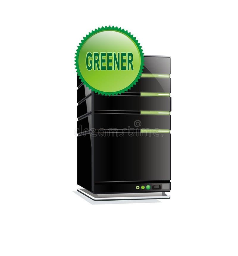 Vektorgrüne Serverweb-Bewirtung stock abbildung