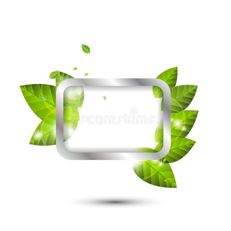 Vektorgrüne Spracheluftblase lizenzfreie abbildung