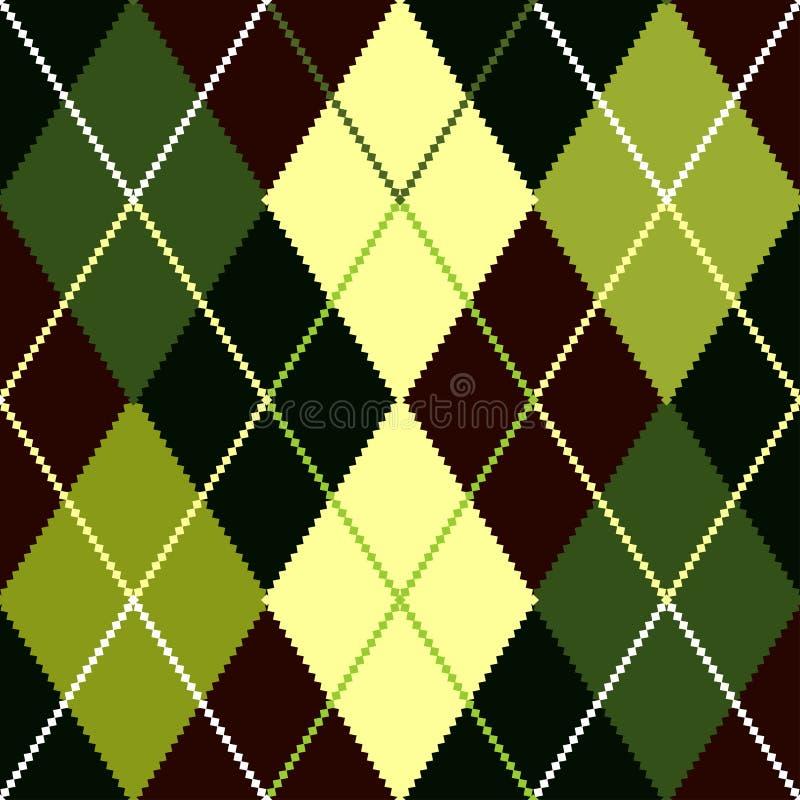 Vektorgrünes argyle Muster stock abbildung