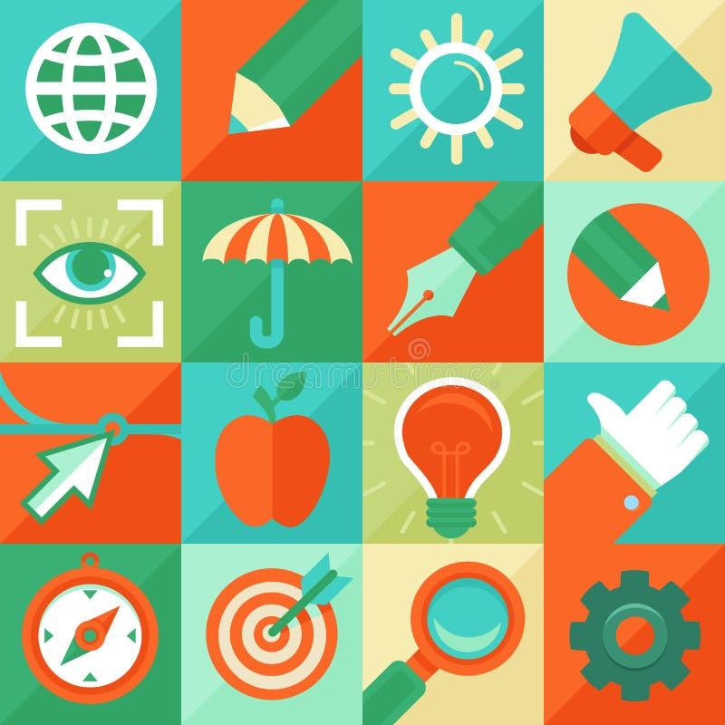 Vektorgrafikdesignkonzept in der flachen Art stock abbildung