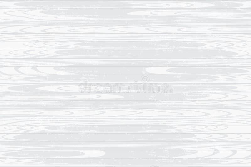 Vektorgraphik schuf weiße hölzerne Beschaffenheit Hand gezeichnet stock abbildung
