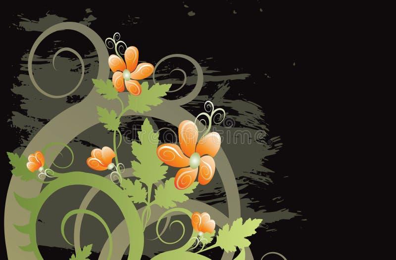 Vektorgrunge Blumenhintergrund vektor abbildung