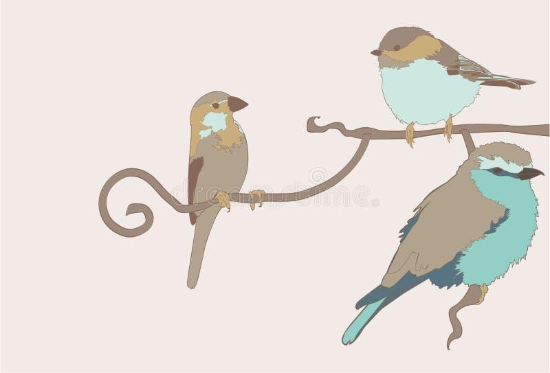 Vektorgruppe Vögel stock abbildung