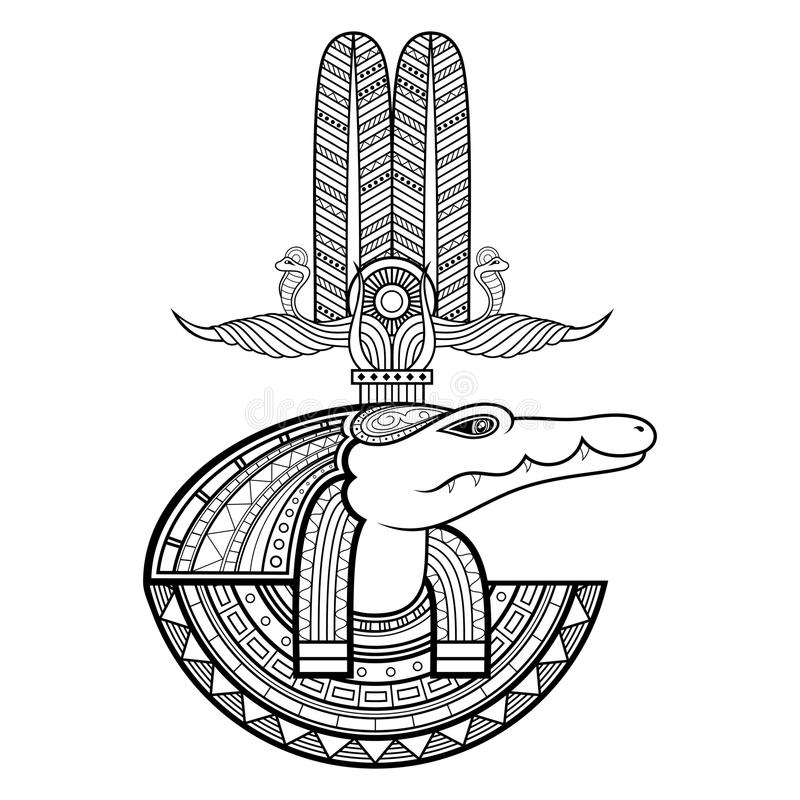 Vektorgud av forntida Egypten stock illustrationer