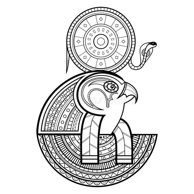 Vektorgud av forntida Egypten royaltyfri illustrationer
